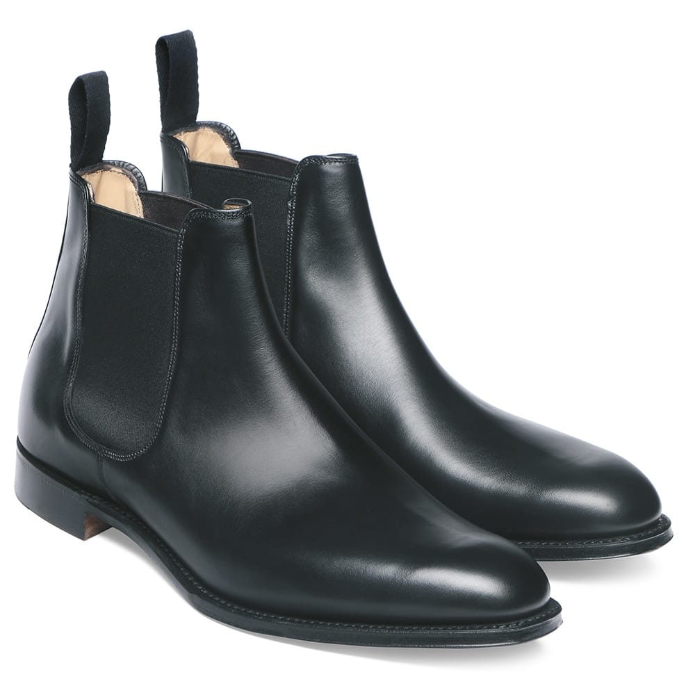 cheaney threadneedle men 39 s black chelsea boot made in. Black Bedroom Furniture Sets. Home Design Ideas
