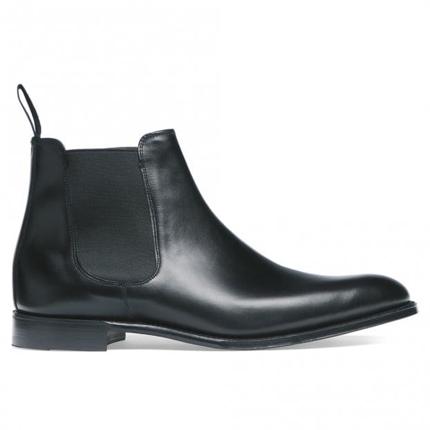Cheaney Threadneedle Chelsea Boot in Black Calf Leather