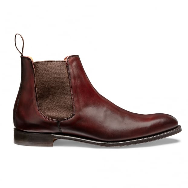Cheaney Threadneedle Chelsea Boot in Burgundy Calf Leather