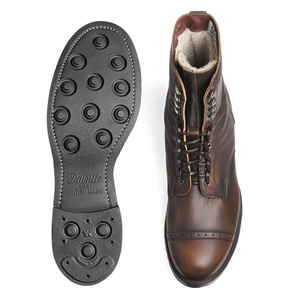 Cheaney Tiger Moth R Men S Copper Goat Skin Boot Made