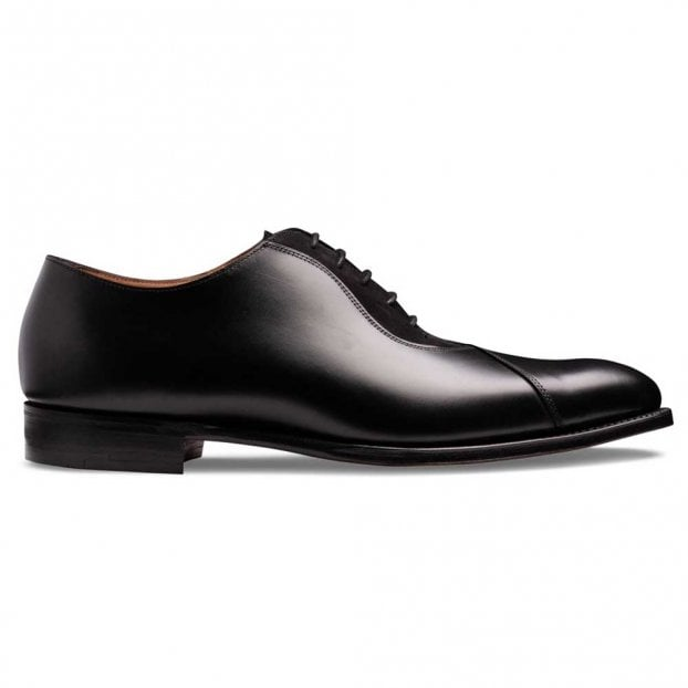 Cheaney Tipton Crossed Oxford in Black Calf Leather/Black Suede