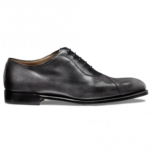 Cheaney Tipton Crossed Oxford in Charcoal Calf Leather