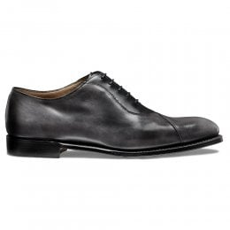 Tipton Crossed Oxford in Charcoal Calf Leather
