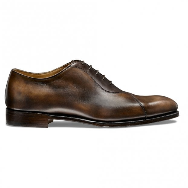 Cheaney Tipton Crossed Oxford in Espresso/Mocha Calf Leather