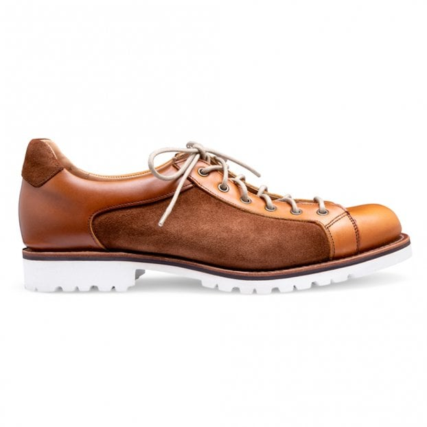Cheaney Tom Monkey Shoe in English Tan Chromexcel Leather/Fox Suede