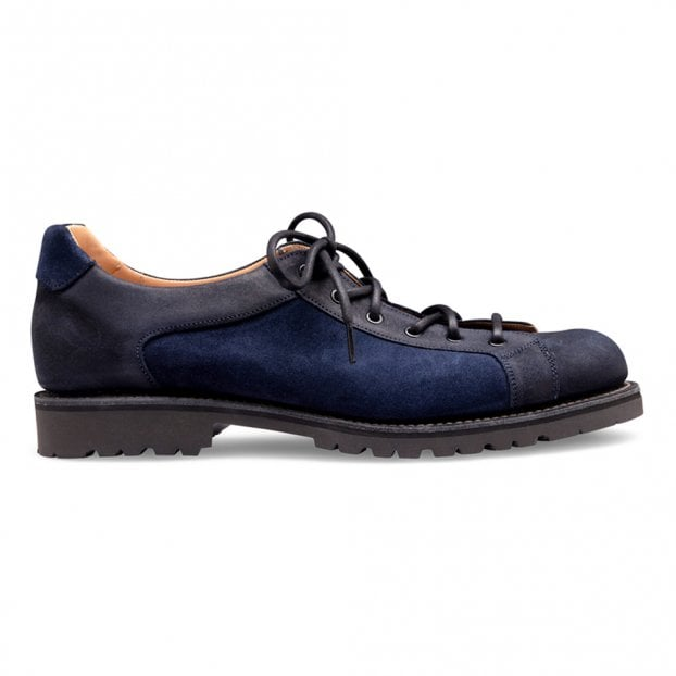 Cheaney Tom Monkey Shoe in Navy Suede