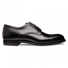 Union Semi Brogue in Black Calf Leather
