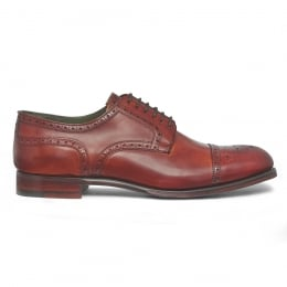 Union Semi Brogue in Dark Leaf Calf Leather