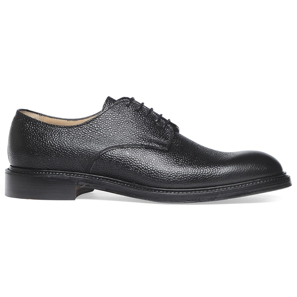 Cheaney Uxbridge Black Grain Leather Derby Hand Made In