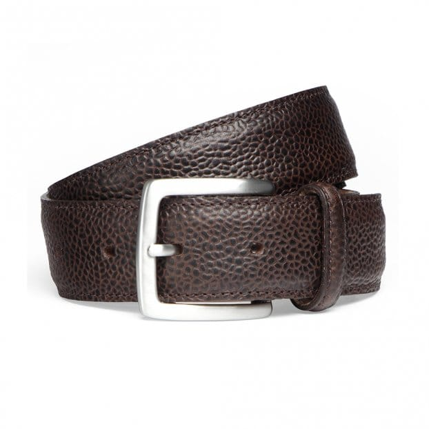 Cheaney Walnut Grain Belt with Silver Buckle