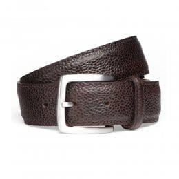 Walnut Grain Belt with Silver Buckle