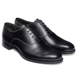 Welland Oxford in Black Calf Leather