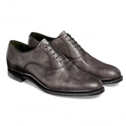 Welland Oxford in Charcoal Grey Calf Leather