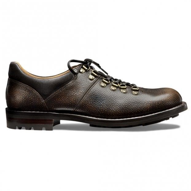 Cheaney Whernside B Hiker Shoe in Bronze Rub Off Grain Leather