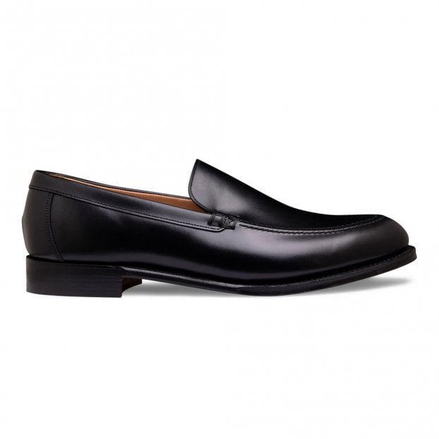 Cheaney Wilbur Apron Loafer in Black Calf Leather