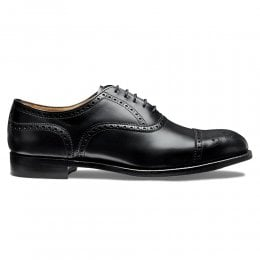 Wilfred Oxford Semi Brogue in Black Calf Leather