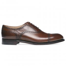 Wilfred Oxford Semi Brogue in Conker Calf Leather