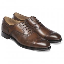 Wilfred Oxford Semi Brogue in Mahogany Calf Leather