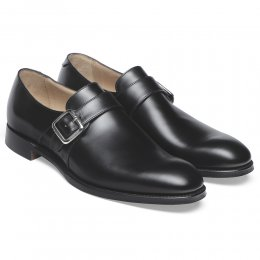William II Single Buckle Monk in Black Calf Leather