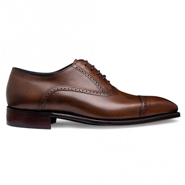 Cheaney Windsor Capped Oxford in Bronzed Espresso Calf Leather