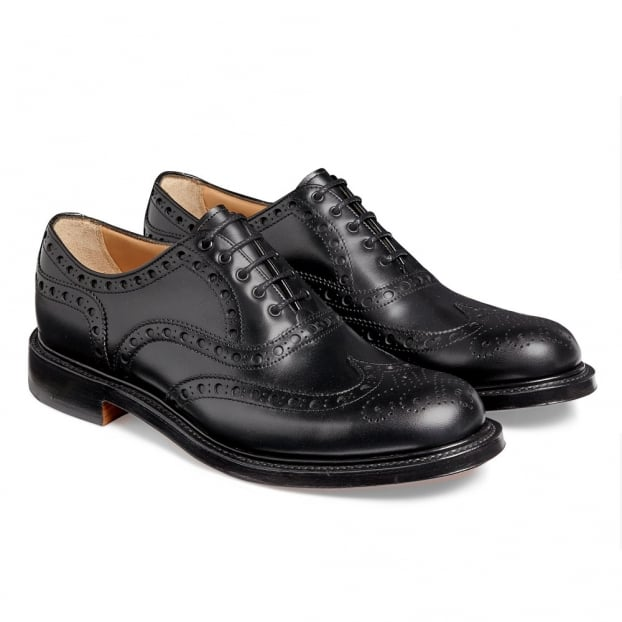 Cheaney Woking Oxford Brogue in Black Calf Leather