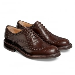 Woking R Oxford Brogue in Brown Lungo Leather