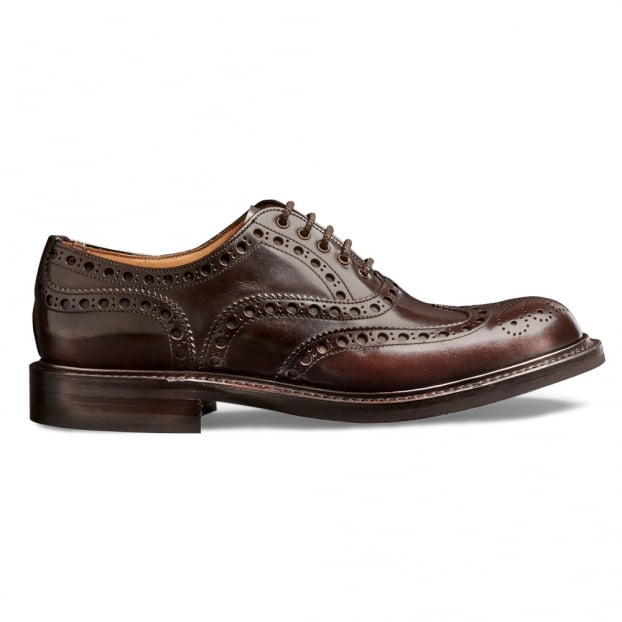 Cheaney Woking R Oxford Brogue in Brown Lungo Leather