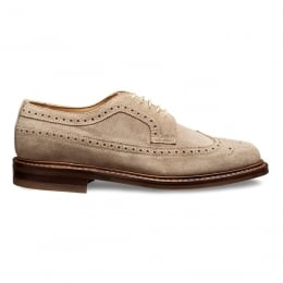 Woodchurch R Long Wing Brogue in Mink Suede