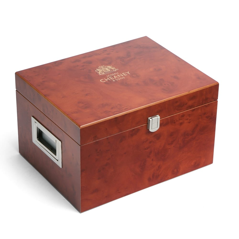 A On Box : Cheaney wooden valet shoe care box accessories