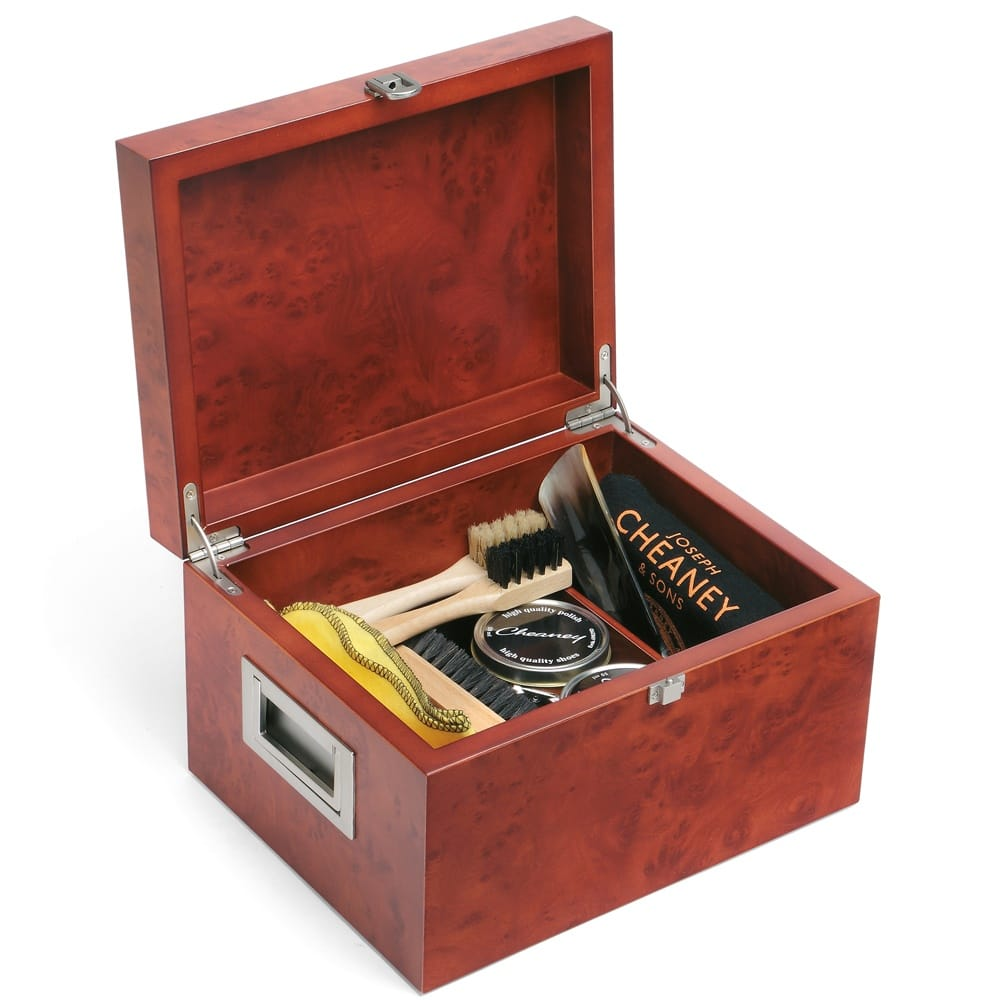 cheaney wooden valet shoe care box cheaney accessories. Black Bedroom Furniture Sets. Home Design Ideas