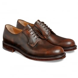 Wye II Derby in Brown Rub Off Calf Leather