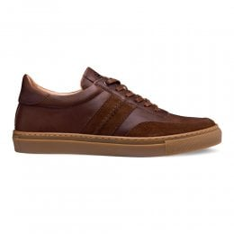 Steel Trainer in Brown Calf Leather/Brown Suede