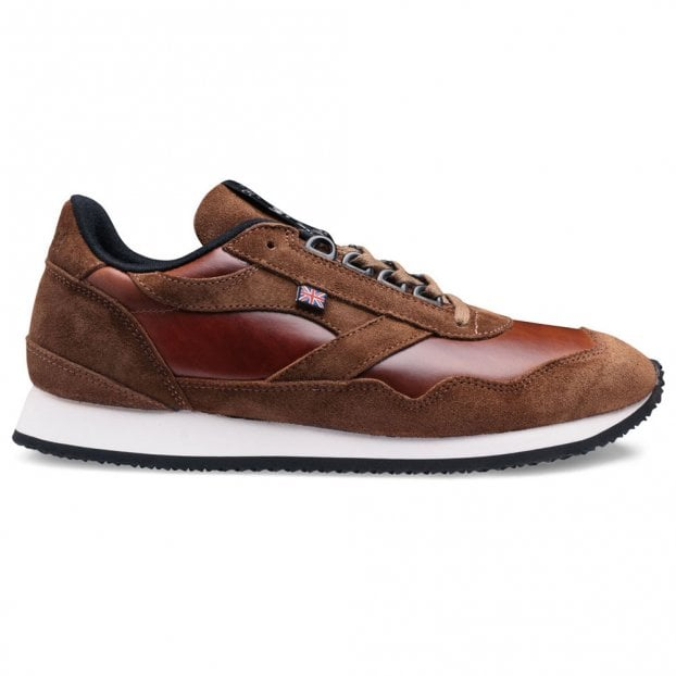 Cheaney X Walsh 1948 Unisex Trainer in Ginger Pull Up Leather/Brown Suede