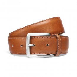 Chestnut Belt with Silver Buckle