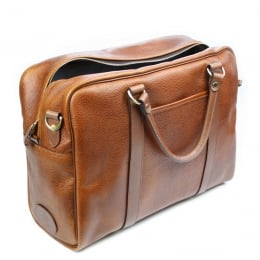 Mahogany Grain Leather Holdall