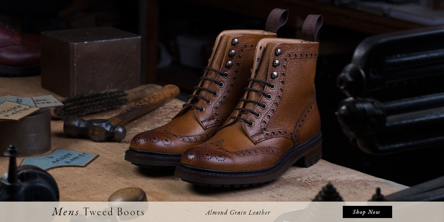 Mens Tweed Boots