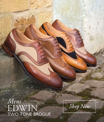 Mens Edwin Two Tone Brogue - Shop Now