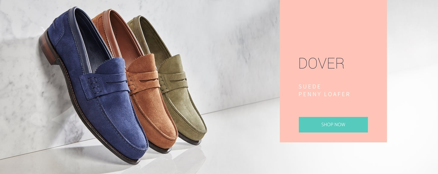 Dover Suede Penny Loafers | Shop Now
