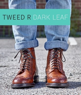Tweed R in Dark Leaf Calf Leather | Shop Now
