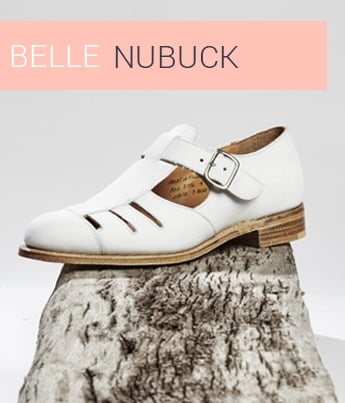 Belle in White Nubuck Suede | Shop Now