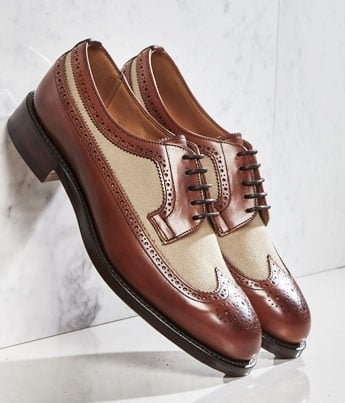 Grace Ladies Two Tone Long Wing Brogue | Shop Now