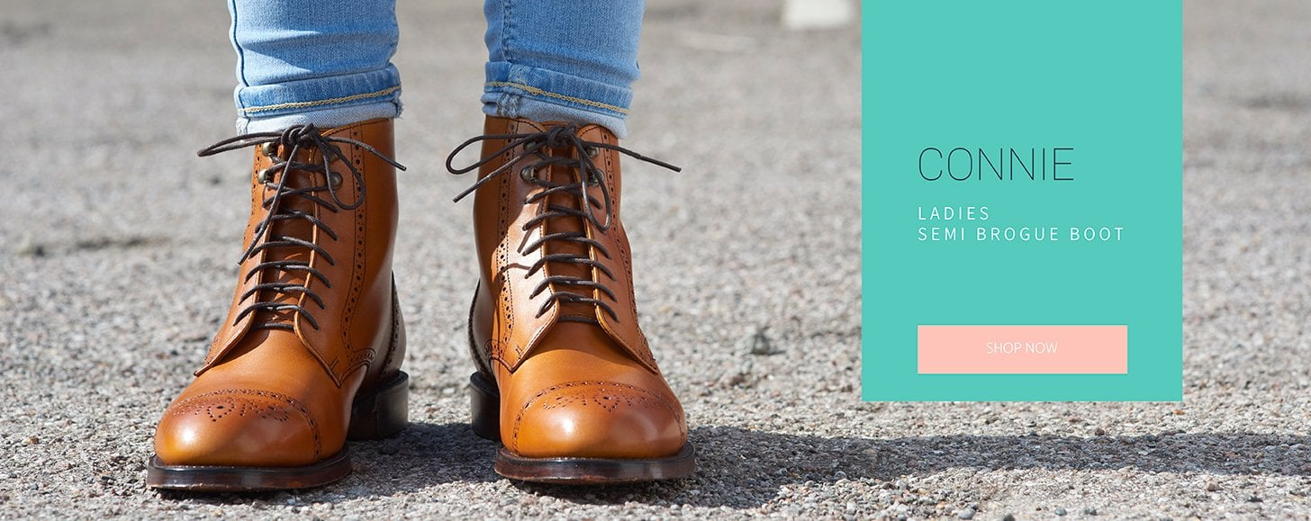 Connie Ladies Semi Brogue Boot | Shop Now