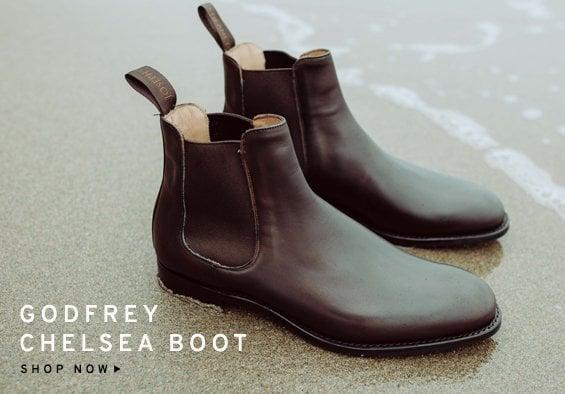 Godfrey Chelsea Boot in Mocha Calf Leather | Shop Now
