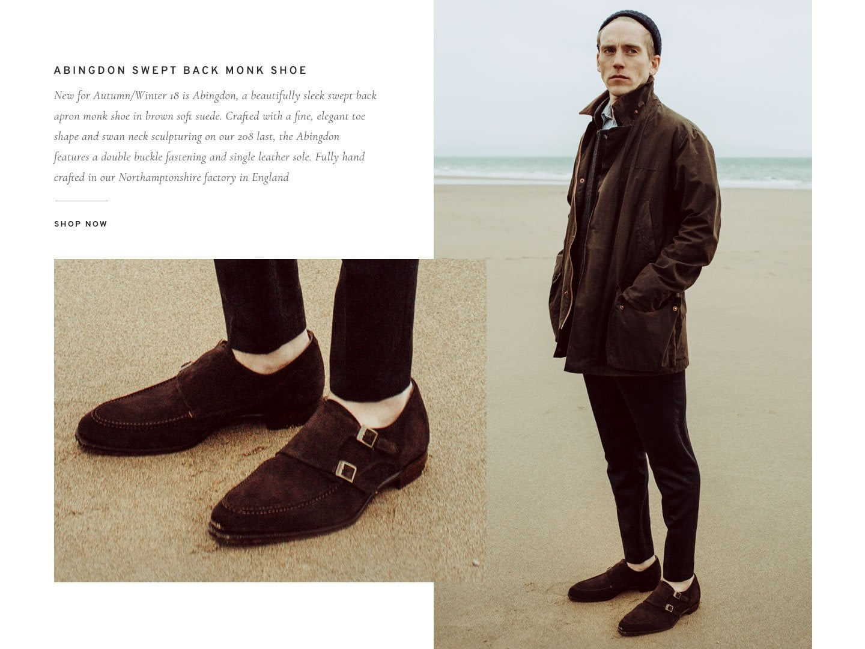 Abingdon Swept back Monk Shoe