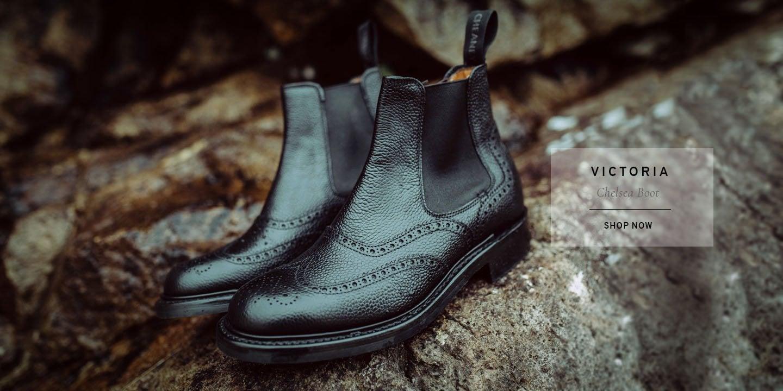 Victoria Ladies Black Chelsea Boot