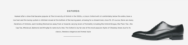 Cambridge Black Oxford