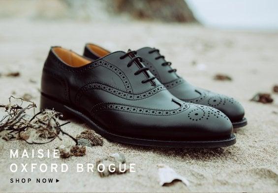 Maisie Black Oxford Brogue