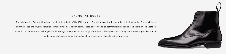 Balmoral Boots | Hanover Black