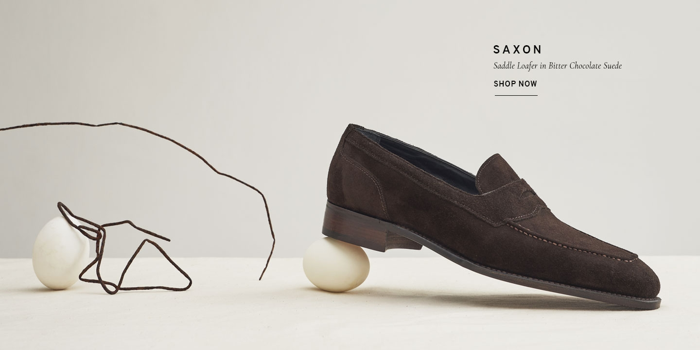 Saxon Saddle Loafer in Bitter Chocolate Suede | Shop Now