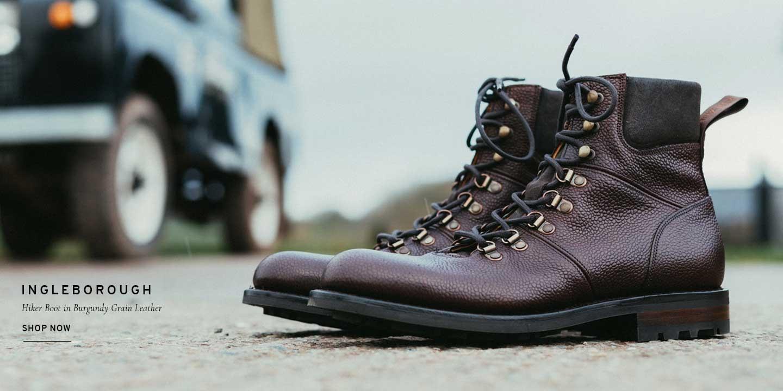 Ingleborough Hiker Boot in Burgundy Grain | Shop Now